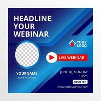 banner modelo de design de conferência webinar vetor