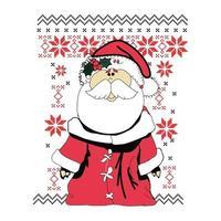 fofo suéter de Natal vetor urso personagem.