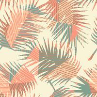 Sem costura padrão exótico com plantas tropicais e fundo geométrico. vetor