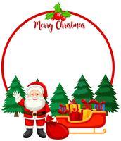 Feliz natal, cartão, com, santa vetor