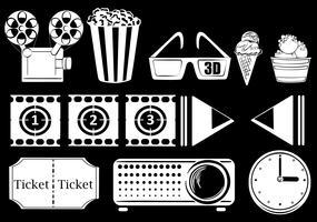 Coisas relacionadas a filmes vetor