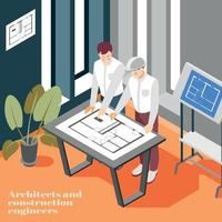 ilustração em vetor fundo engenheiros de arquitetura de construção