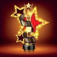 ilustração vetorial de composição de prêmios de cinema de luxo vetor
