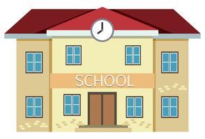Um prédio escolar amarelo