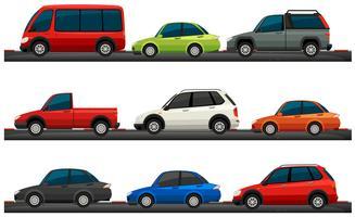 Diferentes tipos de carros vetor