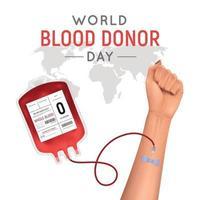 ilustração vetorial realista de fundo de doador de sangue vetor