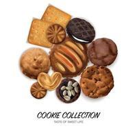 ilustração em vetor conceito cookies realistas