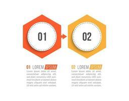 conceito de negócio com 2 opções ou etapas vetor