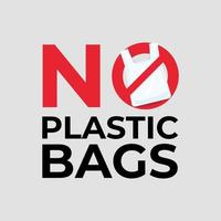 nenhum conceito de saco plástico. vetor