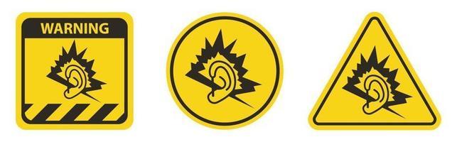 sinal de símbolo de ruído isolado em fundo branco vetor