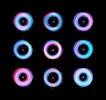 astrologia abstrata galáxia redonda logo concept.ultraviolet overlay torus vetor