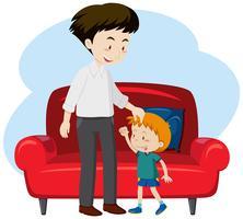 Um pai e o filho vetor