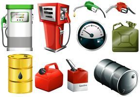 Latas de combustível diferentes vetor