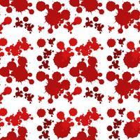 Design de fundo sem emenda com esguicho vermelho vetor
