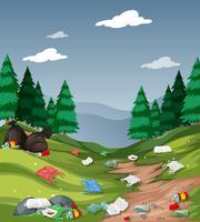 Poluição no parque nacional vetor