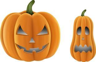 elementos de halloween. abóboras de halloween isoladas. vetor