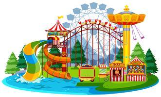 Parque temático da água do divertimento vetor