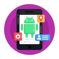 aplicativo e interface do Android vetor