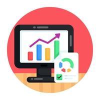 análise de sites e infográficos vetor