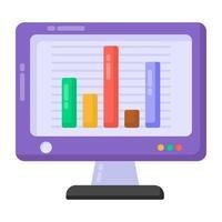 analítica online de dados vetor