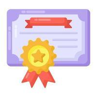 certificado e diploma vetor