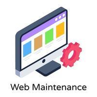 manutenção e configuração da web vetor