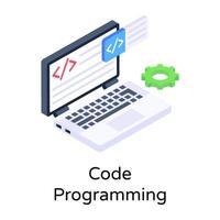 programação de código web vetor