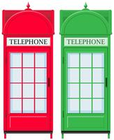 Duas cabines de telefone vintage vetor