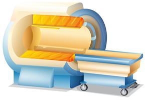 MRI Scanner em fundo branco vetor