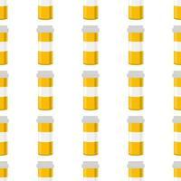 grandes conjuntos coloridos de diferentes tipos de pílulas dentro de um frasco próximo vetor