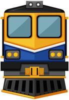 Design moderno de trem em fundo branco vetor