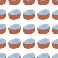 potes abstratos de plástico sem costura com alça confortável vetor