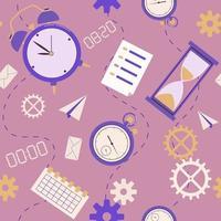 padrão sem emenda de gerenciamento de tempo. fundo para o planejamento vetor
