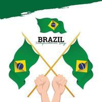 bandeira do brasil. celebrações do dia da independência. modelo de banner. vetor