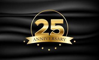 Modelo de banner de vetor de aniversário de 25 anos