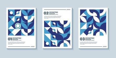 capa de pôster geométrica abstrata moderna com a clássica cor azul vetor