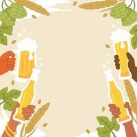 modelo de fundo de celebração do dia da cerveja vetor