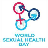 banner do dia mundial da saúde sexual vetor