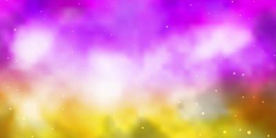 fundo vector rosa claro, amarelo com estrelas coloridas.