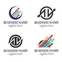 setas ilustração vetorial ícone logotipo modelo de design vetor