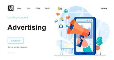 conceito de publicidade na web vetor