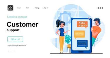 conceito da web de suporte ao cliente vetor