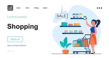 conceito da web de compras vetor
