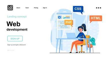 conceito de desenvolvimento web vetor