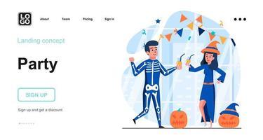 conceito de web festa halloween vetor