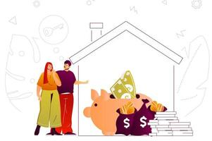 conceito de web de hipotecas vetor