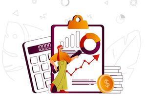 conceito web de auditoria financeira vetor