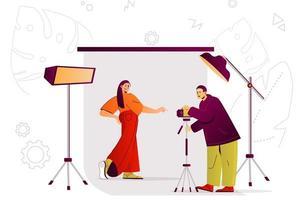 conceito de web estúdio fotográfico vetor