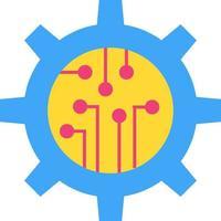 ícone de vetor plano de tecnologia digital