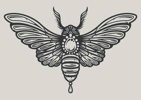 ilustração vetorial de uma mariposa em estilo decorativo vetor